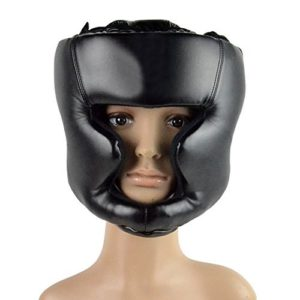 BestYT Headgear Head Gear Casque Protégez Guard Kick d'entraînement de Boxe Noir