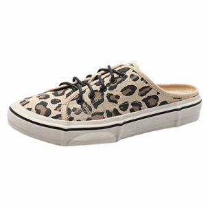 BHYDRY Mocassins à Lacets Devant Chaussures Plates Respirantes Et Chaussures Casual(Brown,39)