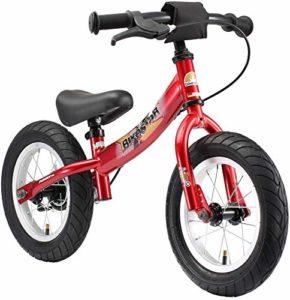 BIKESTAR Vélo Draisienne Enfants pour Garcons et Filles DE 3-4 Ans ★ Vélo sans pédales évolutive 12 Pouces Sportif ★ Rouge