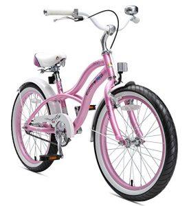 BIKESTAR Vélo Enfant pour Garcons et Filles de 6 Ans Bicyclette Enfant 20 Pouces Cruiser avec Freins Rose
