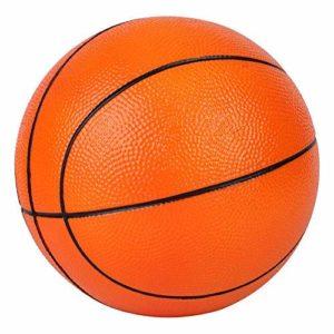 BORPEIN Ballon de Basket-Ball en Mousse sans Pompe avec Pompe de Base, 7 Pouces de Base, avec Sac de Rangement en Filet (Orange)