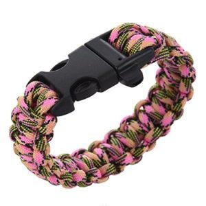 Bracelet de survie – SODIAL(R) Paracord Parachute cordon Bracelets de survie boucle Camping (28)