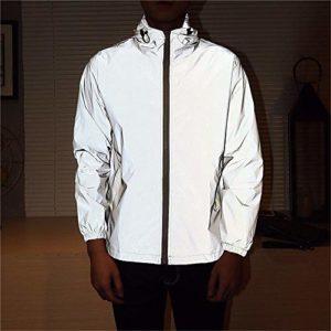 BTTNW Veste réfléchissante Assaut Lumineux rougeoyant Coupe-Vent vêtements réfléchissants Veste Homme pour l'activité Sécurité extérieure (Couleur : Photo Color, Size : S)