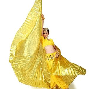 Calcifer® Costume Ailes égyptiennes d'Isis pour danse du ventre Pour fête de Noël, doré