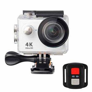 Caméra d'action Sport Caméra d'action Sport Caméra d'action 4K Ultra HD 2.4G Télécommande WiFi 170 degrés Grand Angle, gris, Taille unique
