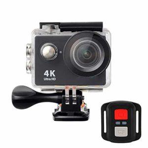Caméra Sport Action Sport Caméra étanche 4K Ultra HD 2.4G WiFi à Distance sans Fonction en Direct Streaming (Couleur : Noir, Taille : Taille Unique)