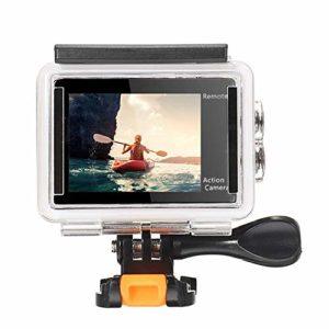 Caméra Sport Record Auto Voiture DVR 170 degrés Objectif 2 Pouces 4K Caméra d'action avec télécommande (Couleur : Blanc, Taille : Taille Unique)