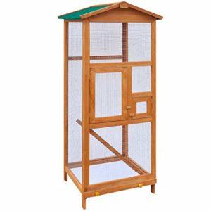 cangzhoushopping Cage à Oiseaux Bois 65 x 63 x 165 cm Articles pour Animaux Articles pour Animaux de Compagnie Accessoires pour Petits Animaux Abris et Cages pour Petits Animaux