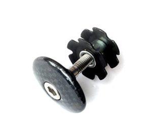 Casquette Jeu de direction A-head Potence carbone Titane + Griffe en aluminium + vis 11/8«, Glossy