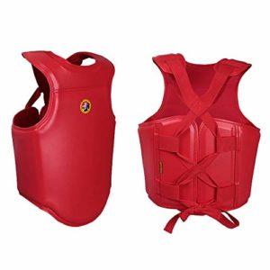 Choix Professionnel De Boxe Poitrine Garde Armure Taekwondo Body Protector MMA Arts Martiaux Formation Protecteur du Sein (Color : Red, Size : S)