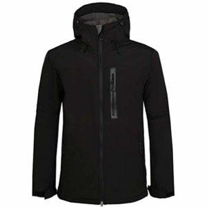 Cinnamou Veste de Randonnée Imperméable Veste d'Extérieur Jogging Manteau à Capuche Hommes Veste Blouson Coton Coat Classique Manteau Coupe-Vent