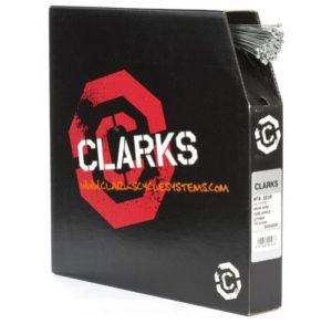 Clarks Câble de dérailleur galvanisé 100 pièces 1,1 x 2275 mm