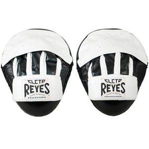 Cleto Reyes poignées en Cuir de res, Courbes de Protection Anti-Chocs, Mixte Adulte, Noir/Blanc, U