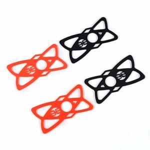 ClookYuan 4 Bandes de Remplacement en Caoutchouc/Silicone pour vélo Moto Guidon Roll Bar Mount pour Smartphones Noir + Rouge – Noir et Rouge
