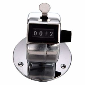 Compteur mécanique de clic de paume de comptage manuel de main de base ronde de 4 chiffres