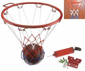 Create Idea Anneau de Basket Filet de Cerceau Basket-Ball d'enfants de 32CM avec Kit de Ballon et Support de Mur