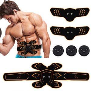 Cvthfyk Électrique stimulateurs Massage Presse abdominaux Muscle exerciseur Ventre Jambe Bras Exercice Workout Accueil Équipement de Remise en Forme (Couleur : Jaune)