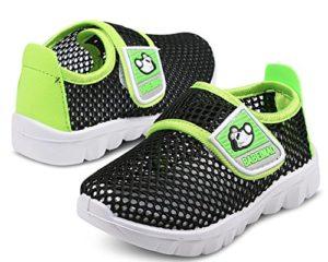 DADAWEN Chaussons Aquatiques Mesh Running Sneakers Sandales pour bébé garçon Fille Noir 27