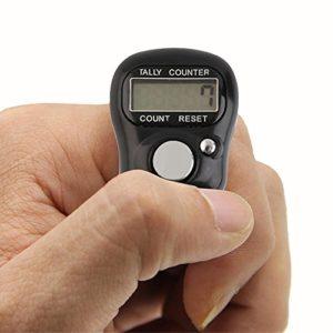 DANMEI 1pièce Mini Reconfigurable 5Chiffres Affichage numérique Digital LCD Doigt Compteur pour Stade Cour et Jeu de Casino etc.