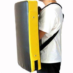 Dfghbn Coup de Pied Cible Taekwondo Tapis de Protection Formation Karaté Kickboxing Pratique du Judo MMA Muay Thai Arts Martiaux (Couleur : Jaune, Taille : 66 * 56 * 10cm)