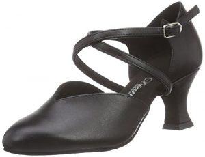 Diamant Damen Tanzschuhe 113-009-034, Chaussures de Danse de Salon Femmes, Noir-Noir, 36 2/3 EU