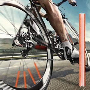 Dibiao Vélo de Sécurité Parlait Réflecteur Jante de Bande Réfléchissante de Roue de Vélo de Vélo 12Pcs