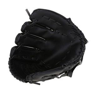 Dioche Gant de Baseball, 2 Couleurs Adulte Gaucher Gant de Baseball Accessoires pour la Compétition D'entraînement(Noir)