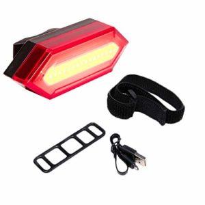 DishyKooker Accessoire USB pour vélo de Charge Pliant Lampe équipée d'un Voyant d'avertissement Rouge pour vélo de Montagne