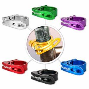 Drahtesel Porte-tube de tige de selle pour vélo Fixation rapide En 28,6mm, 30,2mm, 31,8mm, 34,9mm, or