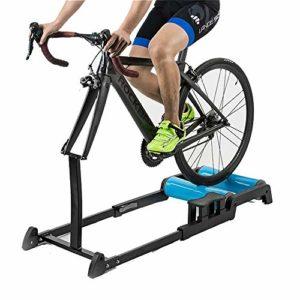 DRAKE18 Entraîneur de Bicyclette à Rouleau, vélo Pliable Station d'exercice réglable résistance vélo de Route vélo de Route Fitness entraînement en Salle