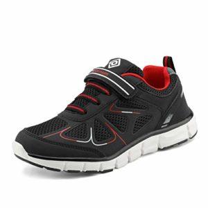 DREAM PAIRS Basket Enfants Garçon Fille Chaussure Sport 151003-K Noir Rouge Taille 12 US Little Kid / 30 EU