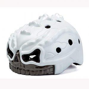 EDG Enfants Crâne Casque de vélo avec feu arrière Lightweight Casques de sécurité Anti-Choc Sports de Plein air Vélos monopièce Bouchon de Protection certifié CE Blanc