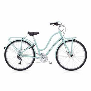 Electra Townie Commute 27D EQ Damen Fahrrad 28 Zoll Beach Cruiser Rad Beleuchtung, 55931, Design Blau – Mineral Blue