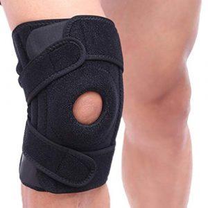 elegantstunning Genouillère élastique réglable pour genouillère de sécurité pour Sports de Plein air, Right Leg