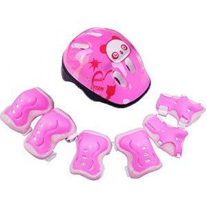 Ensemble d'équipement de protection pour enfants, ensemble d'équipement de protection pour enfants sport réglable avec casque, coude, genou, poignet, protection de sécurité