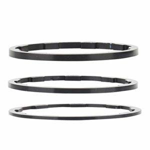 Entretoise de Vélo, 3 Pcs/Set 3 Taille Entretoises de Direction Espaceurs VTT Entretoise de Casque Volant Moyeu Entretoise 1mm + 1.5mm + 2mm Vélo Bottom Support Bride Rondelle Joint