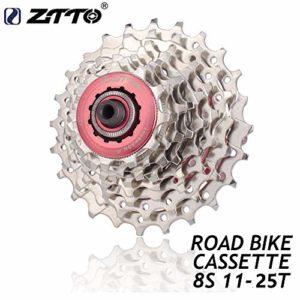 ETbotu Roue libre pour vélo 8 vitesses 11-25 T Cassette vélo de route Rapport à roue libre Pignon Roue dentée ZTTO 8 vitesses 11-24 T / 11-25 T Volant vélo de route