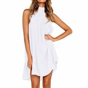 Evansamp-dress – Gilet – Femme – Blanc – XL