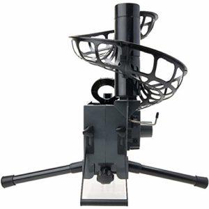 EVERAIE Électronique Baseball Pitching Machine Hauteur Ajustable Automatique Softball Batting Machine à Piles pour Une Utilisation en extérieur intérieur (Couleur : Noir, Taille : 16x44x20inch)