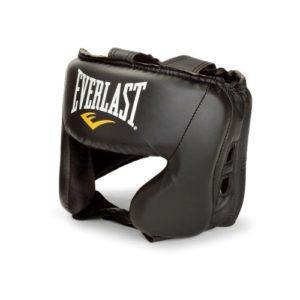 Everlast 4022 Boxe casque pour arts martiaux – casques pour arts martiaux (Boxe, Noir, Simili-cuir, Taille unique)