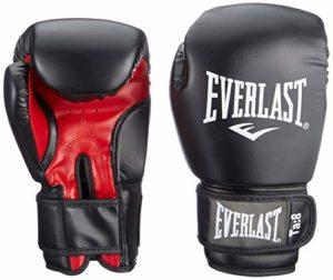 Everlast Rodney 1803 14 oz Gants de Boxe entraînement muscles pectoraux mixte adulte Noir/Rouge 30 cm