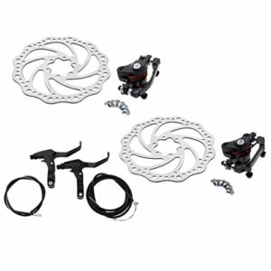 F Fityle Bike Disc Disque de Frein Kit Mécanique Rotor de Frein de Bicyclette Étrier Rotors 160mm Câble Set
