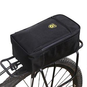 Fancylande Sac de Vélo,Tapis de Coffre Sacoche à Vélo Porte-Bagages Arrière Sacoche de Vélo Multifonctions pour Voiture électrique Vélo