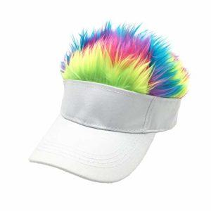 FANZHOU – Perruque créative pour Homme – pour Le Baseball – pour l'extérieur – Chapeau de Soleil – Noir – Chapeau Gris M h