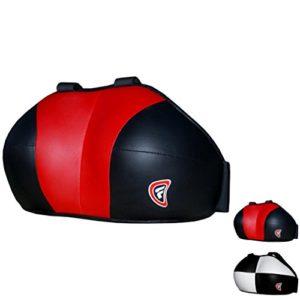 FARABI pour Femme Coffre RGM Coffre Poitrine Protection de Boxe MMA Muay Thai Martial Art équipement de Protection Coffre Guard (Rouge Noir, S/M)