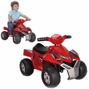 FEBER Racy – Quad Electrique pour Enfants de 18 mois à 3 ans, 6V, Rouge (Famosa 800011252)