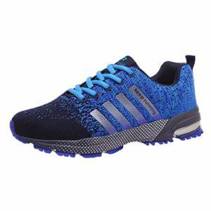 Femmes Hommes Occasionnels Sport Chaussures De Course Air Coussin Sole Respirant Confort Athlétique Sneakers Baskets Bleu 41