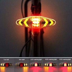 FENSIN Feu arrière de vélo LED Clignotants avec télécommande sans Fil Rechargeable Multifonction Modes Étanche pour VTT Vélo de Route