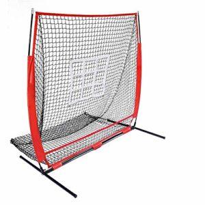 Filet D'entraînement de Baseball 150x150cm Portable net Baseball et softball pitching Frapper zone peut frapper le filet de pratique et rebondissement Plus Pitching Conception Facile à Utiliser et Sta