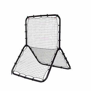 Filet d'entraînement au baseball Sports Rehausse de baseball en forme de sport en forme de Y de 60×40 pouces – Entraîneur de retour de hauteur et filet de rebond – Tous les angles for les Grounders et